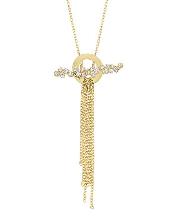 OWN YOUR STORY - 14K Yellow Gold Nature Diamond Waterfall Pendant Necklace