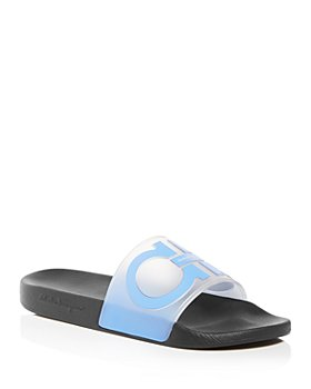 Salvatore Ferragamo - Men's Groove 6 Gancini Translucent Slide Sandals - 100% Exclusive