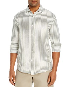 The Men's Store at Bloomingdale's - Linen Stripe Classic Fit Shirt - 100% Exclusive