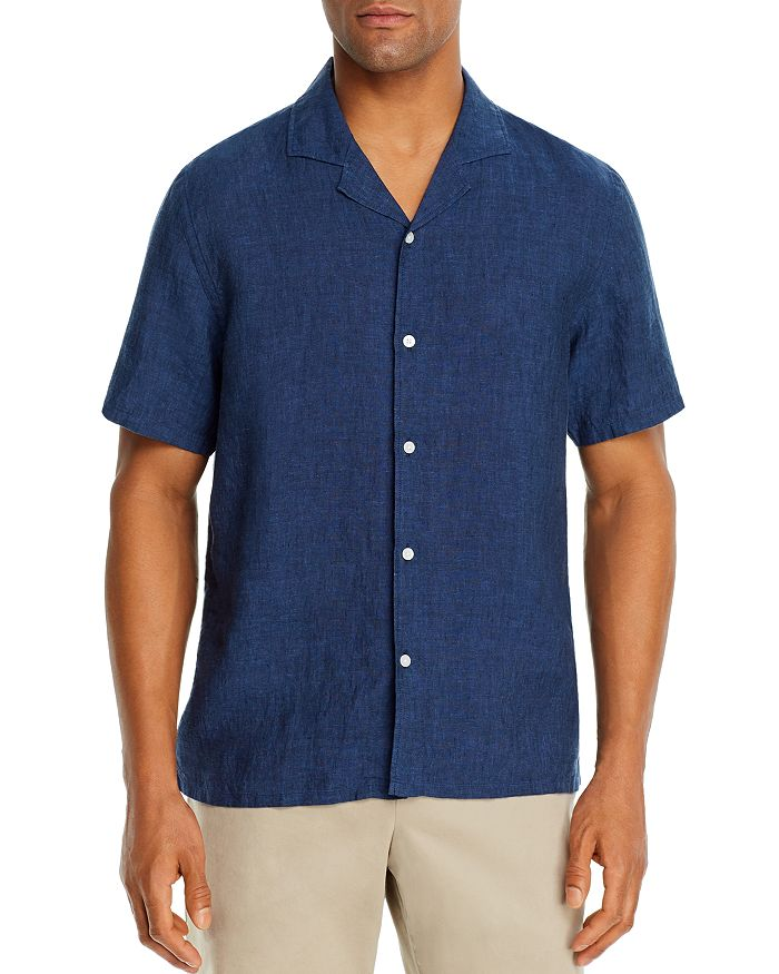 The Men's Store at Bloomingdale's - Linen Solid Classic Fit Camp Shirt