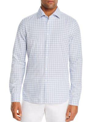 The Mens Store at Bloomingdales Mens Mini-Check Slim-Fit Dress Shirt