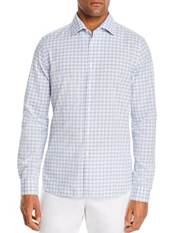 The Men's Store at Bloomingdale's - Cotton-Blend Melangé Checked Classic Fit Shirt - 100% Exclusive