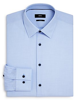 BOSS - Jano Cotton Textured Slim Fit Dress Shirt