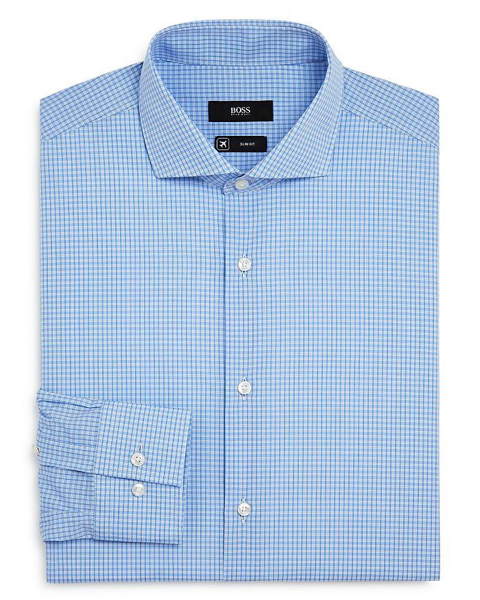 BOSS - Jason Checked Slim-Fit Dress Shirt