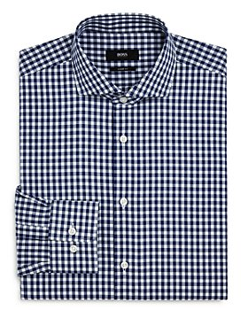 BOSS - Mark Gingham Regular-Fit Dress Shirt