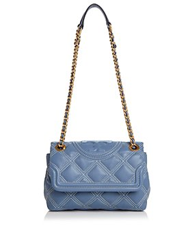 Tory Burch - Fleming Contrast-Stitch Small Leather  Convertible Shoulder Bag