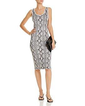 AQUA - Snake-Print Midi Dress - 100% Exclusive