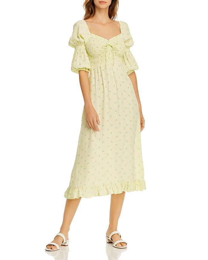 Faithfull the Brand - Nora Floral-Print Smocked Dress