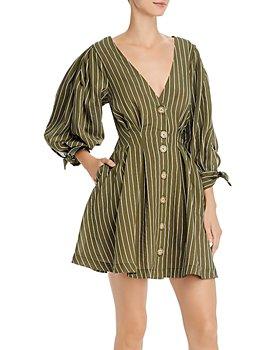 Significant Other - Lantana Tonal-Stripe Button-Front Mini Dress