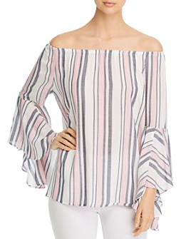 Single Thread - Striped Off-the-Shoulder Top