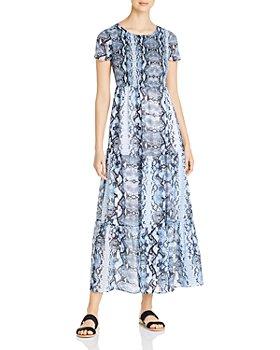 Design History - Snake-Print Tiered Maxi Dress
