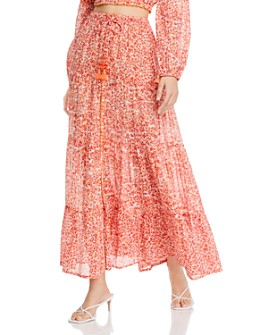 Poupette St. Barth - Tiered Floral-Print Skirt