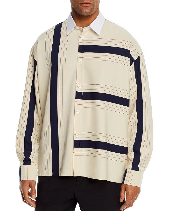 Etudes - Cotton Illusion Stripe Regular Fit Shirt