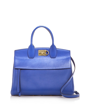 Salvatore Ferragamo Studio Bag Medium Leather Satchel