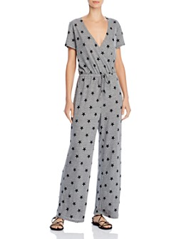 ALTERNATIVE - Eco Cross-Front Star-Print Jumpsuit - 100% Exclusive