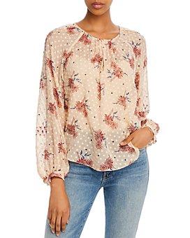 Joie - Adison Floral & Polka Dot Print Blouse