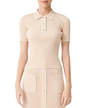 Maje Marina Polo-Style Ribbed Sweater-Women