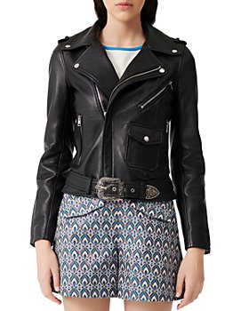 Maje - Bocel Leather Moto Jacket