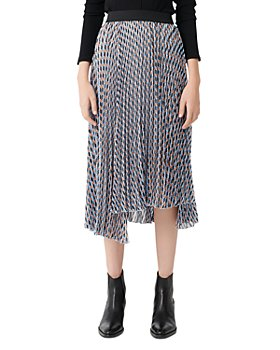 Maje - Jela Pleated Midi Skirt