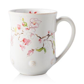 Juliska - Berry & Thread Floral Sketch Cherry Blossom Mug