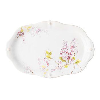 "Juliska - Berry & Thread Floral Sketch Wisteria 16"" Platter"