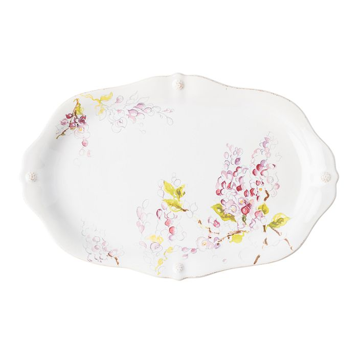 "Juliska - Berry & Thread Floral Sketch Wisteria 16"" Platter"