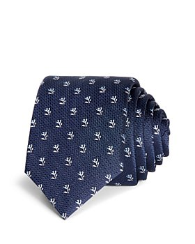 BOSS - Rose & Stem Neat Silk Skinny Tie