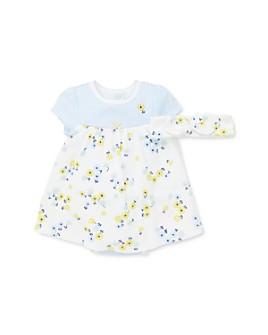 Little Me - Girls' Cotton Daisy Bodysuit Dress & Headband Set - Baby