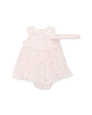 Little Me Girls' Butterfly Popover Bodysuit & Headband Set - Baby