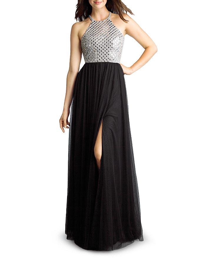 Basix - Mirrored Halter Gown