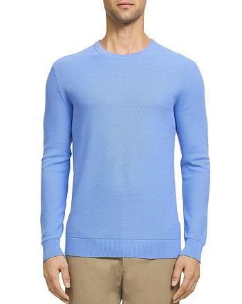Theory - Riland Piqué Cotton Crewneck Sweater
