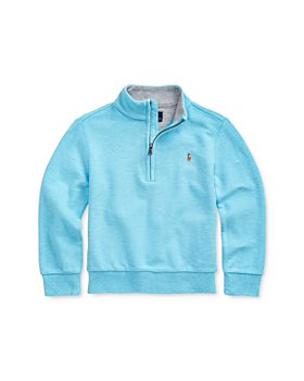 Ralph Lauren - Boys' Mesh Half-Zip Pullover Sweater - Little Kid