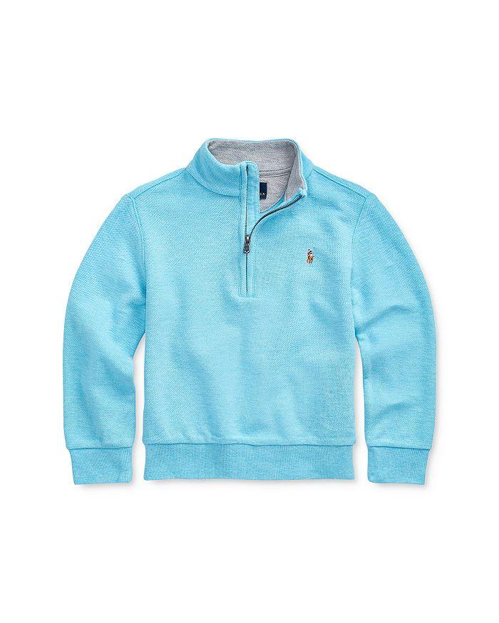 Ralph Lauren - Boys' Cotton Mesh Half-Zip Sweater - Little Kid, Big Kid