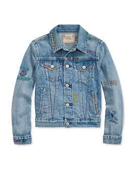 Ralph Lauren - Girls' Denim Trucker Jacket - Big Kid