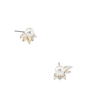 Nadri Nectar Swarovski Glass Pearl Stud Earrings