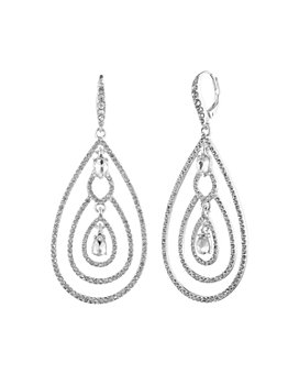 Ralph Lauren - Crystal Orbital Teardrop Drop Earrings