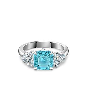 Swarovski Sparkling Aqua Crystal Ring