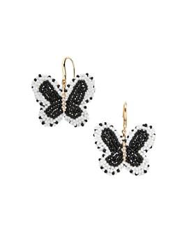BAUBLEBAR - Monarch Beaded Butterfly Drop Earrings