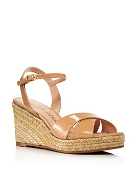 Stuart Weitzman - Women's Rosemarie Strappy Espadrille Wedge Sandals