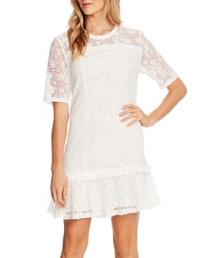 CeCe Floral Lace Mini Dress-Women