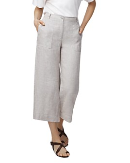 b new york - Lightweight Cropped Linen Pants