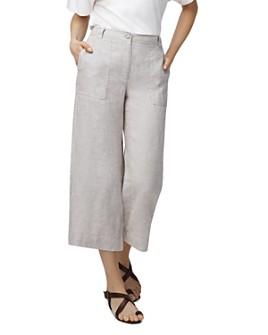 b new york - Lightweight Cropped Linen Pants