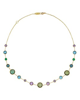 IPPOLITA - 18K Yellow Gold Lollipop® Lollitini Necklace Mixed Stone Statement Necklace