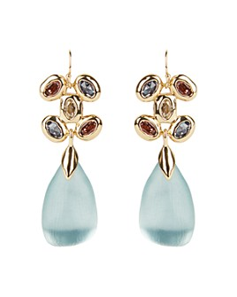 Alexis Bittar - Byzantine Lucite Stone Cluster Wire Drop Earrings