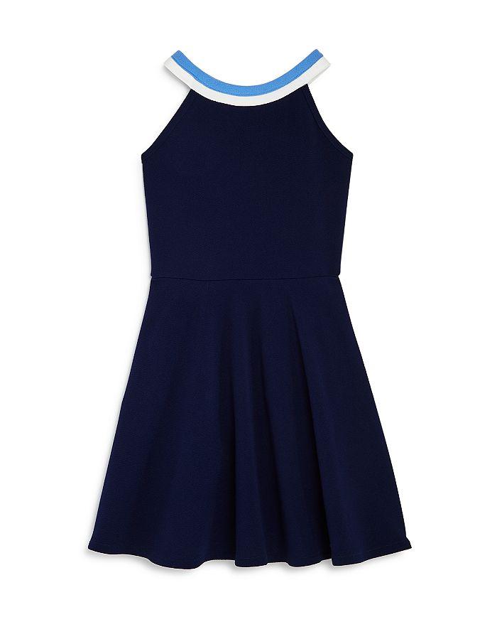 AQUA - Girls' Striped-Neck Dress, Big Kid - 100% Exclusive