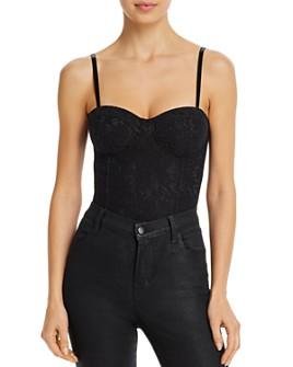 AQUA - Sleeveless Lace Bodysuit