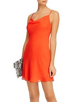 AQUA - Cowl-Neck Sleeveless Mini Dress
