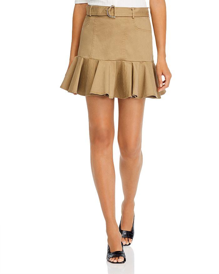 AQUA - Belted Flounce Mini Skirt