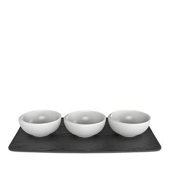Villeroy & Boch - New Moon Dip Bowl & Tray, Set of 4
