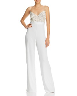 Jay Godfrey - Finley Beaded-Bodice Jumpsuit
